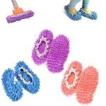 chaussons mop,kitteny 3 Paires Multifonction Microfibre Poussière Mop Chaussures Chaussons De Nettoyage Pour La Maison, 3 Couleurs 6pcs