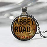 Abbey Road Halskette, London Anhänger, The Beatles Schmuck, britische