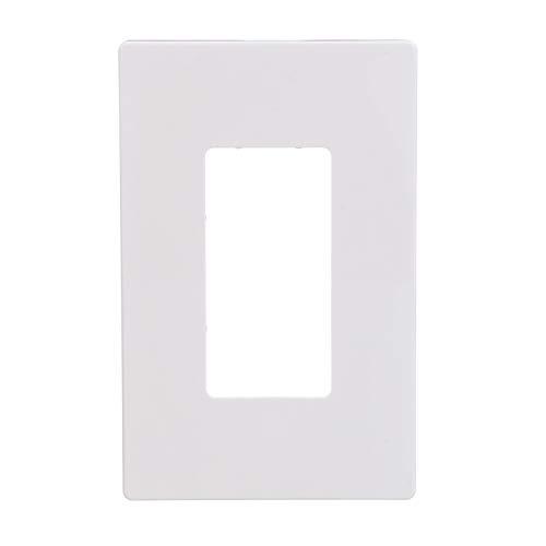 EATON PJS26W Arrow Hart Pjs26 Decorative Screw less Wall Plate, 1 Gang, 3.13 In L X .5 In W X 4.88 In H, White