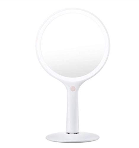 Miroir De Maquillage Mis en Rotation À 360 ° De l'angle du Miroir Peut Être Ajustée Librement De Lumière Tenu À La Main Peut Être Inclinée Jusqu'à 75 ° Miroir Avant HD
