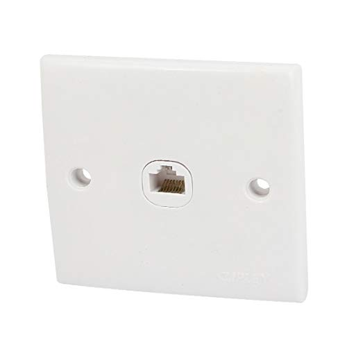 New Lon0167 RJ45 8P8C Destacados 1 puerto Cat5 eficacia confiable CAT5e Ethernet Wall Plate Outlet blanco AC 250V(id:33a 66 8e eb4)