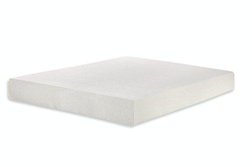 "Home Life Cooling Gel Sleep 6"" Memory Luxury Mattress Green Foam, Short King, White"