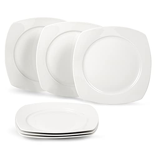 suntun Platos Llanos de Porcelana 6 piezas, 9,7
