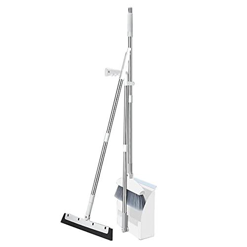 Ayudante de tareas domésticas La escoba plegable y de pie y la combinación del conjunto de polvo con la limpieza de la limpieza de escoba extensible Set de la escoba para el hogar (color: 3pcs 04 72cm