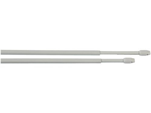 Vitragestangen/Scheibenstange ausziehbar Weiss 2 Stück (60-110 cm) incl. 4 Klebehaken PREMIUM QUALITÄT