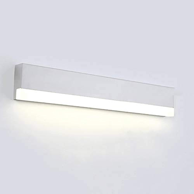 Moderne LWeiß Spiegel vorne Licht Acryl Spiegel Leuchte Make-up-Leuchten Bad wasserdicht Spiegel vorne Licht Einbau-lautstrkesteller Schminkspiegel (Farbe  warmes Licht-20 cm)