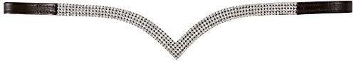 Cwell Equine VE 4Reihen Kristall klar Stirnband tolle Geschenkidee auf * Bieten * braun (COB 38,1cm)