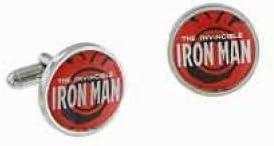 Iron Man Logo Marvel Comics Boxed Cufflink Set