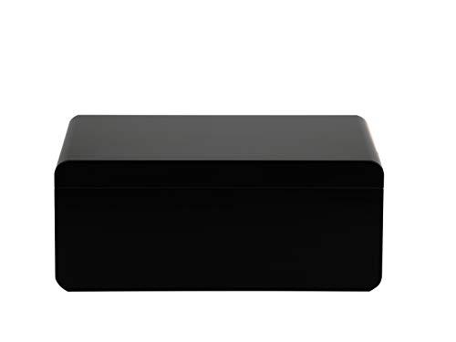 Adorini Zigarren Humidor Carrara L schwarz - Deluxe   mit lebenslanger Garantie
