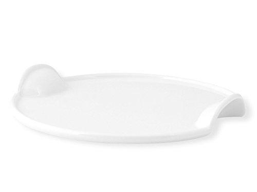 H&H Set Hotelware: 2 Plats Ronds En Porcelaine Deux Poignées 30 Cm Plats