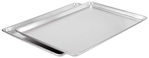 AmazonCommercial Aluminum Baking Sheet Pan, Full Sheet, 26' x 18', Pack of 2