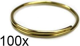 100 Stück überlappende Prismenringe messing / goldfarben für Lampen, Leuchten, Lüster und Kronleuchter