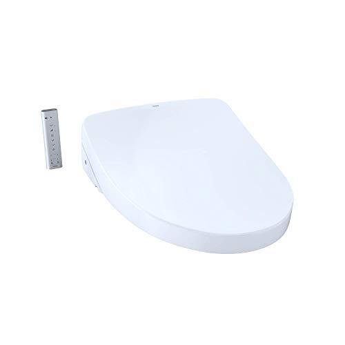 TOTO SW3056AT40-01 S550e WASHLET+ & Auto Flush Ready Electronic Bidet Toilet Seat w/EWATER+ & Auto Open & Close Contemporary Elongated Lid (Cotton White)