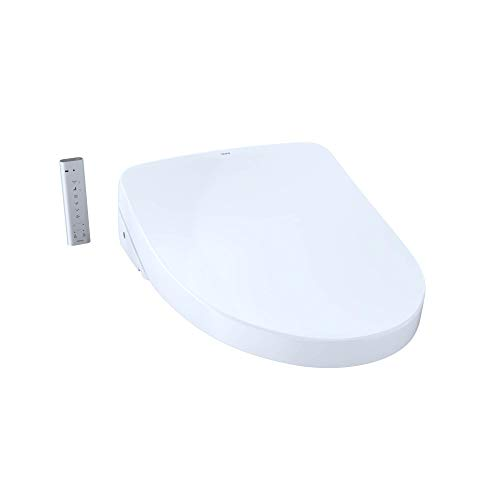 TOTO SW3056AT40-01 S550e WASHLET+ & Auto Flush Ready Electronic Bidet Toilet Seat w/EWATER+ & Auto Open & Close Contemporary Elongated Lid (Cotton White)