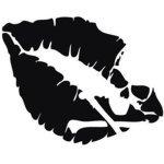 SUPERSTICKI® Kussmund mit Totenkopf 10 cm Aufkleber Autoaufkleber Sticker Tuning Vinyl UV&...