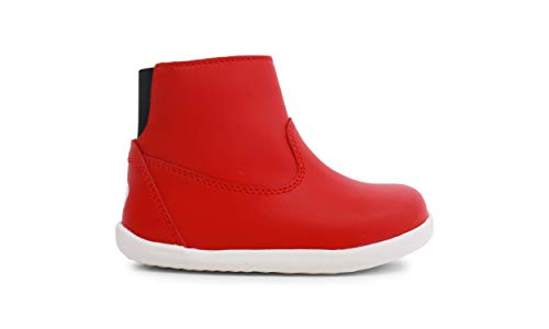 Bobux Step Up Paddington Winter Boots_Primeros Pasos - Una Bota de Piel, Forro de Lana Merino, Membrana Interna Impermeable al Agua, Suela Flexible y Resistente, Cierre Cremallera (Red, Numeric_20)