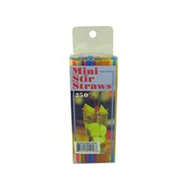 250 Pack Multi Color Mini Stirrer Straws