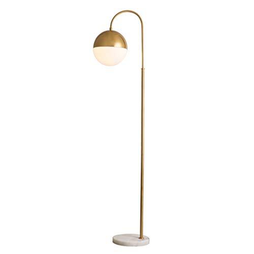 Lampes de chevet Lampadaire en Métal Moderne Minimaliste Salon en Fer Forgé Verre Balle Lumière Luxe Mode Chambre Étude Art Lampadaire (Color : Gold, Size : 38 * 168cm)