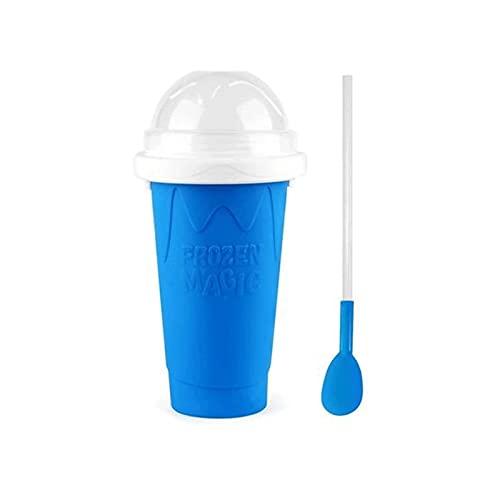 FGDJTYYJ Tazas de Pellizco de Taza de Batido de Bricolaje, Máquina de Aguanieve Taza Mágica Congelada para Exprimir Taza de Enfriamiento, Taza de Enfriamiento Rápido Botellas de Batido (Color : Blue)