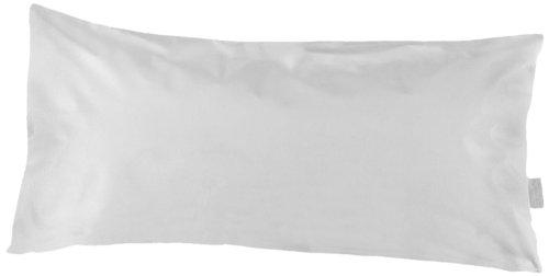 Dormisette Q120 Kissenschutzbezug aus 100% Baumwolle Gr. 40/80 cm, reinweiß