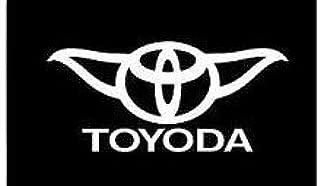 Chase Grace Studio Toyoda (2 Pack) Star Wars Yoda Vinyl Decal Sticker White Cars Trucks SUVs Vans Laptops Walls Glass Metal 5.5