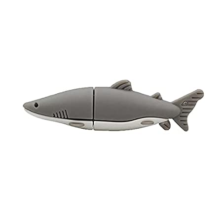64GB Flash-drive Gray Pendrive Shark Fish USB Flash Drive Memory Thumb Stick