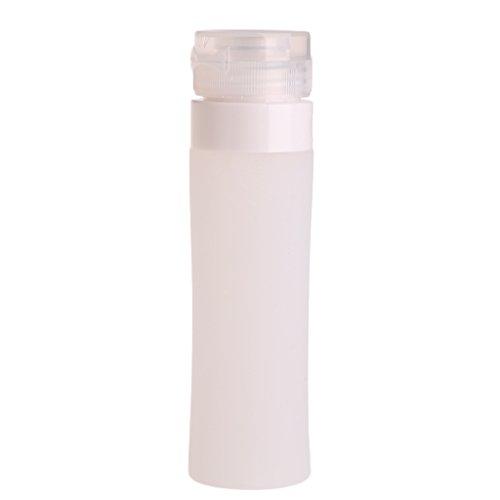 Lunji Flacon Vide Silicone - Flacons de Voyage 40ml pour Shampooing Gel Douche Huile Solaire Lotion (Transparent)