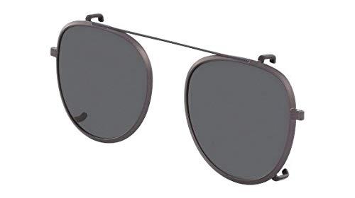 Óculos Calvin Klein Ck8582 Clip 015 Grafite Clip-On Lente Cinza Tam 51