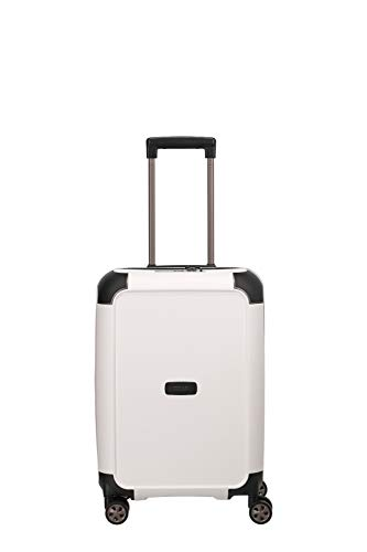 "TITAN ""COMPAX""-Trolleys von TITAN®: stabile Hartschalen-Koffer in futuristischer Optik in 3 Farben Koffer, 55 cm, 43 Liter, White"