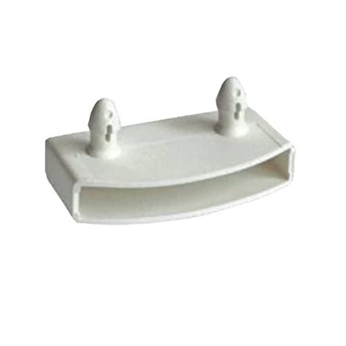 White skin 10 unids 55x9mm Cama de plástico Slat Center Caps Topers Bundles Taps Tops Titulares Reemplazo for Accesorios de Cama Securando Listones de Madera (Color : 10pcs White End Cap)
