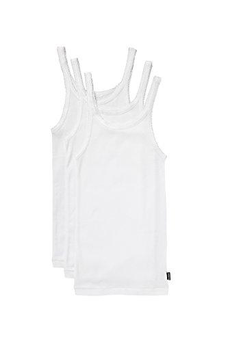 Bonds Girls Underwear Cotton Teena Singlet (3 Pack), White, 3/4