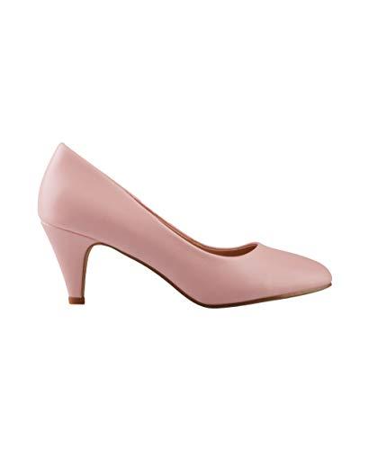 5791-PNK-5, KRISP Zapatos Tacón Salón Elegantes