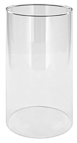 Oberstdorfer Glashütte Windlicht Gross Ersatz Glas Zylinder klar mundgeblasen Öffnung unten Oben 10 cm Höhe 20 cm Maß Anfertigung in verschiedenen Größen möglich