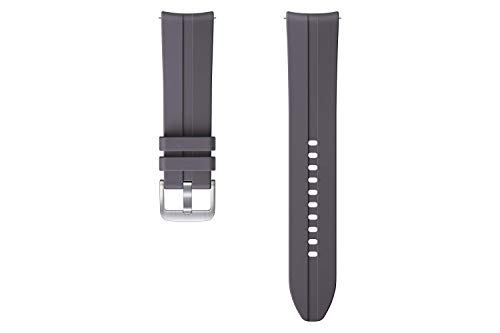 Samsung Ridge Sport Armband ET-SFR84, Uhrenarmband für Galaxy Watch3 mit 22 mm Stegbreite, Sportarmband aus Fluorelastomer in Grau