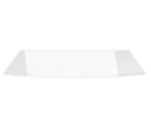 Segmentbogen 100x60cm - Saisonplatte Funkenschutzplatte Kaminbodenplatte Kaminvorlageplatte Glasplatte (Segmentbogen 100x60cm ohne Silikon-Dichtung)