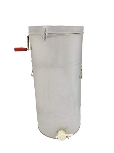 Pigeon Mountain Trading Company PM9996 Two-Frame 66cm x 41cm Manual Honey Extractor, Silver