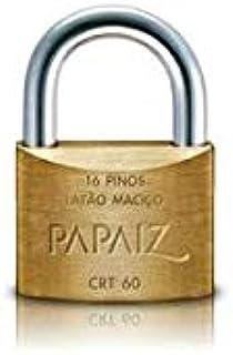 Cadeado Tetra Chave, Papaiz, CRT 60, Latão