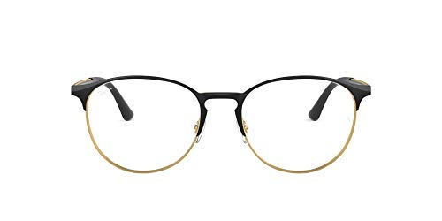 Ray-Ban Unisex-Erwachsene 0rx 6375 2890 51 Brillengestell, Gold (Gold Top In Black)