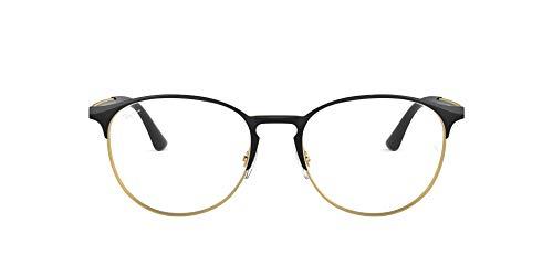 Ray-Ban Unisex-Erwachsene 0rx 6375 2890 51 Brillengestell, Gold (Gold Top In Black)