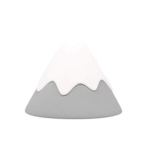 AIKENR Luz de noche, Nieve Montaña de la lámpara, Creativo Inteligente Activado por Voz LED Lámpara de Mesa Sensor de Movimiento...