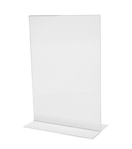 SIGEL TA220 Tischaufsteller gerade, für A4, glasklar Acryl - weitere Größen
