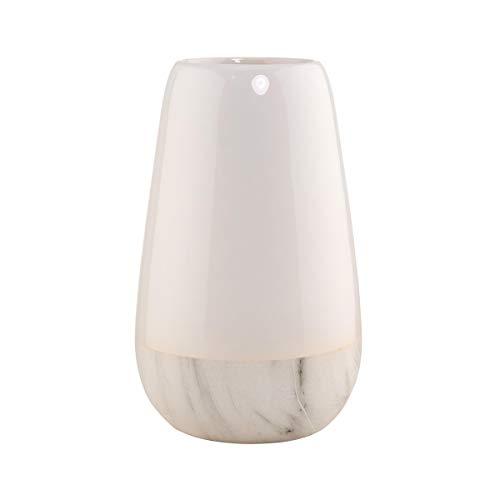 Butlers MARBELLO Vase Marmor Optik weiß/grau