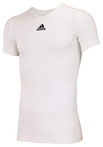 adidas Climacool Primeknit Techfit Mens Performance Compression Jersey White Medium