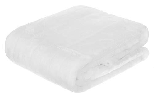 Brandsseller Manta de Piel Sintética 150 x 200 cm Manta acogedora Colcha Cubrecama Blanco