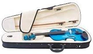 4/4 MV-Blue Solid Wood Violin with Hard Case