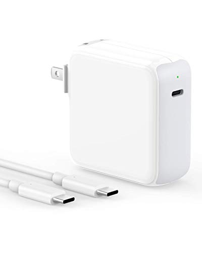 USB C Fast Charger 65W Power Adapter Compatible with MacBook Pro 15/13 inch, Air 13 inch 2020/2019/2018, 12 inch, Thunderbolt 3 Power Supply, LED, Foldable Plug, 6.6ft USB C to C Cable