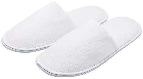 ZOLLNER 10 Paia di Pantofole per Ospiti, One Size, Unisex, Bianche, Altri Colori