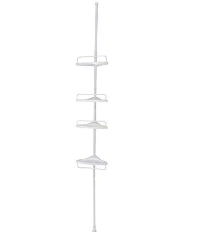 Gricol ba/ño Ducha Estante de Esquina 2 Niveles Espacio Aluminio tri/ángulo Pared estantes de Ducha Caddy Pegatina de Pared Cesta de Almacenamiento para Cocina ba/ño Negro