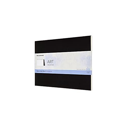 Moleskine Bloc Aquarelle Art Collection, Album avec Papier pour Aquarelles, Couverture Carton, Format 23 x 31 cm, Couleur Noir, 20 Pages
