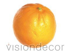 Allstate Floral Artificial Decorative Faux Fruit for Home Decor - 80mm Orange